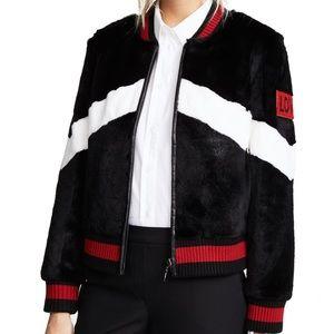 5ca4637172e3 Jocelyn Rabbit Fur Baseball Jacket